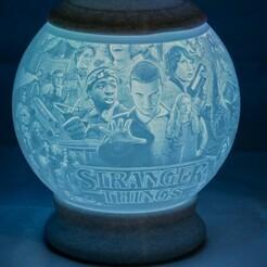 Stranger Things-01.jpg Télécharger fichier STL Choses étranges Lithophane Globe Nightlight • Objet pour impression 3D, brianhole