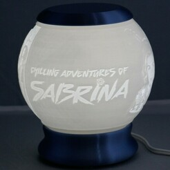 Sabrina-01.jpg Télécharger fichier STL Les aventures glaciales de Sabrina globe terrestre lithophane • Design pour impression 3D, brianhole