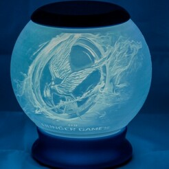 Hunger Games-01.jpg Télécharger fichier STL Jeux de la faim Lithophane Globe Nightlight • Design imprimable en 3D, brianhole