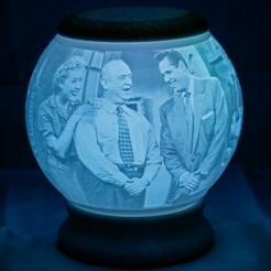 Lucy-01.jpg Télécharger fichier STL I Love Lucy Lithophane Globe Nightlight • Modèle à imprimer en 3D, brianhole