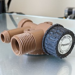 main thumb squared.jpg Download STL file Dometic Sealand RV toilet water valve 168-1000 • 3D printable design, NickG