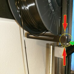 2021-01-05 15.55.31.jpg Download STL file STOP filament / blocking - derailment - crossing of filament on the spool • Design to 3D print, Youpi4fc