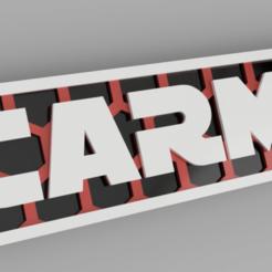 carmen blanco.png Download STL file named key ring • 3D printing model, 3dMestres