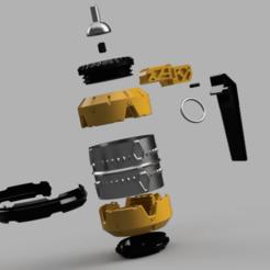 granada futurista despiece.png Download STL file hidden boat in futuristic pomegranate • 3D printing model, 3dMestres