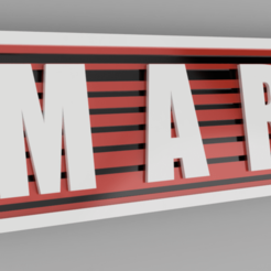 MARC BLANCO.png Download STL file named key ring • 3D printing model, 3dMestres