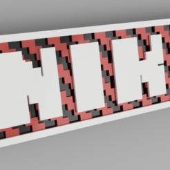 niko blanco.png Download STL file named key ring • 3D printing model, 3dMestres