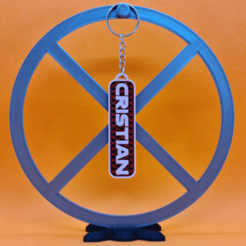 llavero cristian.png Download STL file named key ring • 3D printing model, 3dMestres
