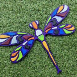 liberula pared.png Download free STL file dragonfly • 3D printer design, 3dMestres