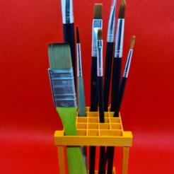 portapinceles.png Download free STL file brush holder • 3D printable object, 3dMestres
