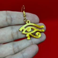ojo de horus.png Download STL file eye of Horus earrings • 3D print model, 3dMestres