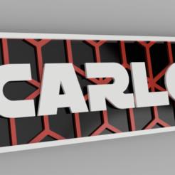 carlos01.png Download STL file named key ring • 3D printing model, 3dMestres