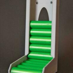 K1024_IMG_4330.JPG Download STL file 18650 Battery Dispenser • 3D printer object, AJvisions