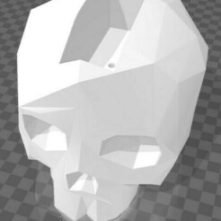 Maceta Skull Low Poly l.jpg Télécharger fichier STL gratuit Le crâne en poly pot • Plan pour impression 3D, julioprju