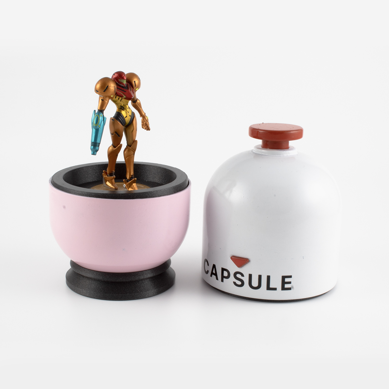 Capsule-01.jpg Download free STL file Super Smash Brothers Amiibo Capsule • Template to 3D print, Make-Do