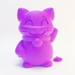 5.jpg Télécharger fichier STL Maneki Neko/ Banque de chats • Plan pour imprimante 3D, Mar-0s0