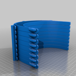 rc3Shield_v13_8Stack_0.4.png Download free STL file covid-19 faceshield stacked 3 hole punch 13mm tall • Object to 3D print, chubylive
