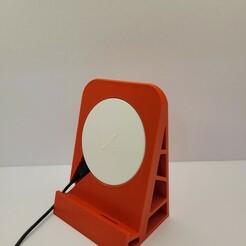 20201221_213911.jpg Download STL file Phone holder with Ikea wireless charger • 3D printer object, ultrakiev