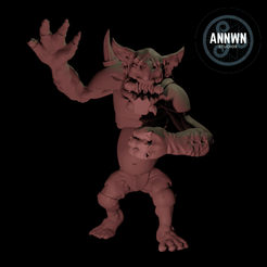 front_logo.png Download STL file Big Spiky Troll (Fantasy Football Big Guy, Tabletop RPG) • 3D printer object, AnnwnStudios
