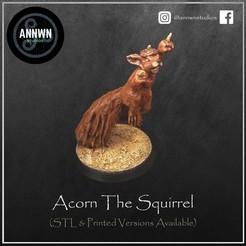 Acorn Pose 2 Product Image.jpg Télécharger fichier STL Glander l'écureuil tueur - Joueur vedette de football fantastique (Pose 2) • Objet pour imprimante 3D, AnnwnStudios
