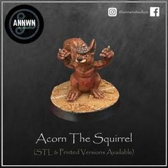 Acorn Pose 1 Product Image.jpg Télécharger fichier STL Glander l'écureuil tueur - Joueur vedette de football fantastique (Pose 1) • Objet pour impression 3D, AnnwnStudios