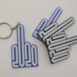 2020finger.PNG Download STL file Keychain - 2020 Middle Finger • 3D print object, Brad3D
