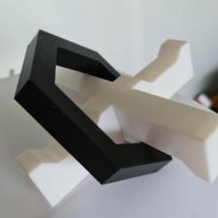 Printed Cross Puzzle.PNG Télécharger fichier STL Puzzle - Puzzle de l'hélicoptère de Newton • Modèle imprimable en 3D, Brad3D