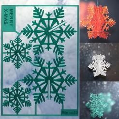 overview_image small landscape copy.jpg Télécharger fichier STL gratuit Carte flocon de neige X-MAS • Design à imprimer en 3D, Marco3D