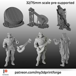 PATREON-bard.jpg Télécharger fichier STL Barde Demi-Elfe • Design imprimable en 3D, My3DprintFORGE