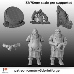 PATREON-TEMPLATE2.jpg Download STL file The Innkeeper pre-supported 32/75mm • 3D printable object, My3DprintFORGE