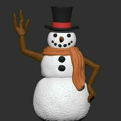 Snowman-render.JPG Download STL file Snowman • Object to 3D print, My3DprintFORGE
