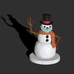 NEW-cgtrader.JPG Télécharger fichier STL Édition de Snowman Covid - Stay Safe • Modèle pour imprimante 3D, My3DprintFORGE