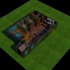 render4.jpg Télécharger fichier STL Maison meublée • Objet pour imprimante 3D, jgpaez