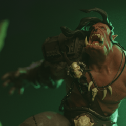 Grommash05.png Télécharger fichier STL Warcraft Orc • Objet imprimable en 3D, Ink