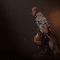 Render 01 3.png Download STL file Hellboy • Object to 3D print, Ink