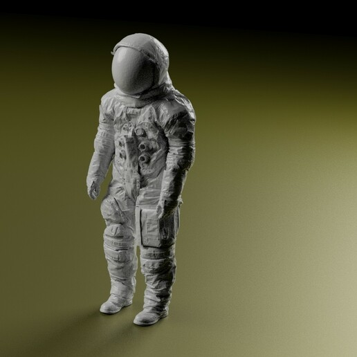 front.jpg Download STL file Neil Armstrong Astronaut Spacesuit Apollo 11 • 3D printable design, tubbybtch