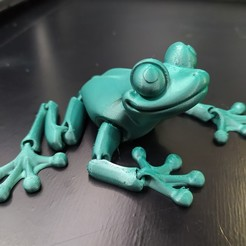 Download STL file Cute Flexi Print-in-Place Frog • Template to 3D print, Hom_3D_lab