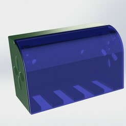 df-1.JPG Download free STL file Toothbrush Box With Lid • 3D print model, hasanrcn