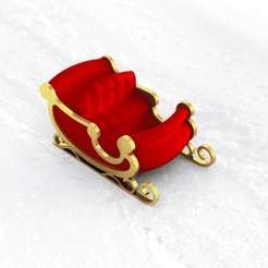 RENDER trineo mod04_G2.png Download STL file Santa Claus's jingle. Christmas decoration • Template to 3D print, D3DICA