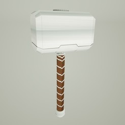 Mjolnir.jpg Download STL file Mjolnir Thor's hammer • 3D printer object, 4vecesmayk