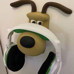 Gromit_05.jpg Download free STL file Gromit Headphone Hook • Object to 3D print, RealBadDad