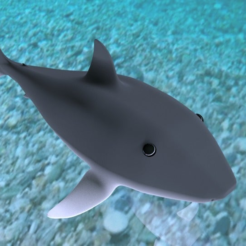 shark4.png Download free STL file Shark baby • 3D printer template, RealBadDad