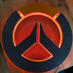 Overwatch_Light_13.jpg Download free STL file Overwatch Wall Light • 3D print object, RealBadDad