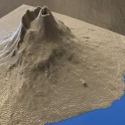 Vesuvio.jpg Download free STL file Mt. Vesuvius, Naples, Italy • 3D printable model, boncri
