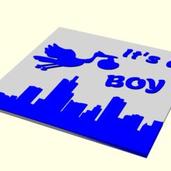 boy-disegno.png Download STL file It's a boy • Template to 3D print, boncri