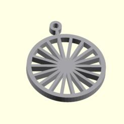 Ruota.png Download free STL file Wheel Christmas ornament • 3D print object, boncri