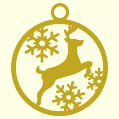 Deco-Renna.png Download STL file Reindeer Christmas Ornament • 3D printer object, boncri