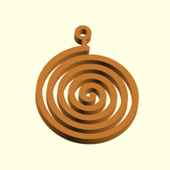 Spirale.png Download free STL file Spiral Christmas ornament • 3D printable template, boncri