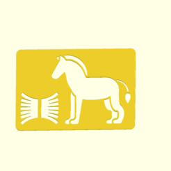 horse.png Download STL file 15 FARM STENCILS • 3D printable template, boncri