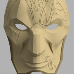 jhinn.png Download free STL file jhin league of legends mask • Object to 3D print, maximilianopascarelli