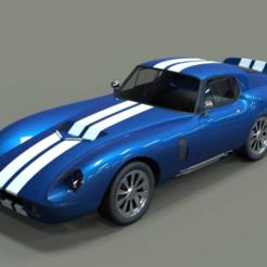 DAYTONA.PNG Download free STL file SHELBY DAYTONA 1:28 MINI-Z • 3D printable design, tecnostudio3d